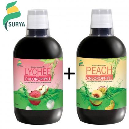 Surya Lychee & Peach with Chlorophyll 500ml x 2 (Exp: Jul'20)