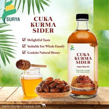 Surya Date Cider Vinegar 450ml (Cuka Kurma Sider dengan Madu Asli)