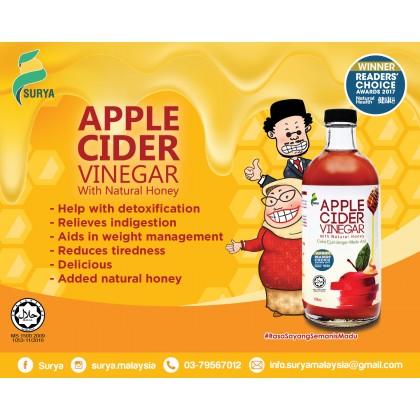 [Raya Promo] Surya Apple Cider Vinegar (3 x 450ml,Exp: Oct'20) + Free Gift worth RM40