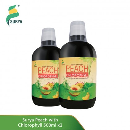 2 x Surya Peach with Chlorophyll 500ml (Exp: Aug'20)