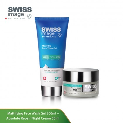 Swiss Image Essential Care Bundle Set (Face Wash + Night Cream)