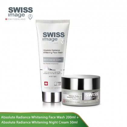 Swiss Image Whitening Care Bundle Set (Face Wash + Night Cream)