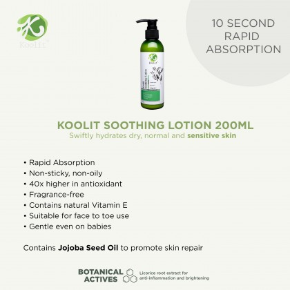 3 x Koolit Soothing Lotion 200ml
